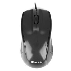 Imagen de NGS Black Mist USB Óptico 800DPI mano derecha Negro ratón