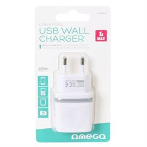 Picture of OMEGA CARGADOR USB UNIVERSAL 5V 1A BLISTER BLANCO