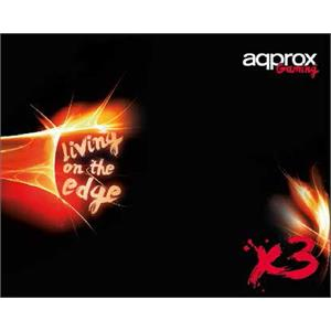 Imagen de Approx X3 Alfombrilla de ratón para juegos Negro, Rojo, Blanco