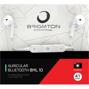 Picture of Brigmton Auricular+Mic BML-10-B Bluetooth Blanco