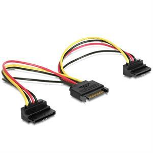 Imagen de iggual Cable Doble Alim. SATA Conect. 90º 0.15 Mts