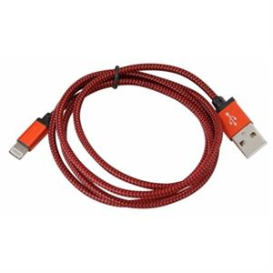 Picture of PLATINET CABLE TELA LIGHTNING 1M CAJA ROJO