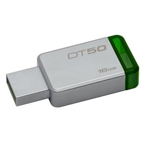 Imagen de Kingston Technology DataTraveler 50 16GB 16GB USB 3.0 (3.1 Gen 1) Conector USB Tipo A Verde, Plata unidad flash USB