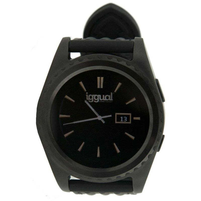 """Imagen de iggual Smartwatch EVO1 1.2"""" IPS BT4.0 Negro"""