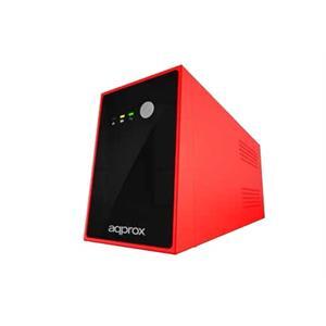 Imagen de Approx appUPS500V3 500VA Compacto Negro, Rojo sistema de alimentación ininterrumpida (UPS)