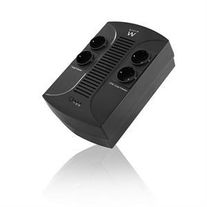 Imagen de Ewent EW3940 Línea interactiva 650VA 4AC outlet(s) Negro sistema de alimentación ininterrumpida (UPS)