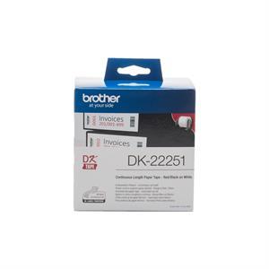 Imagen de Brother DK-22251 Negro y rojo sobre blanco DK cinta para impresora de etiquetas
