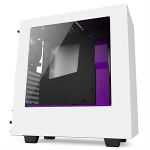 Imagen de NZXT SOURCE 340 Midi-Tower - weiß/lila Window