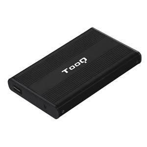 """Imagen de TooQ CAJA HDD 2.5"""" SATA A USB 2.0 NEGRA"""