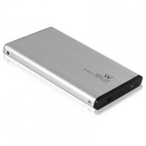 "Imagen de Ewent EW7041 2.5"" USB con suministro de corriente Aluminio, Negro storage drive enclosure"