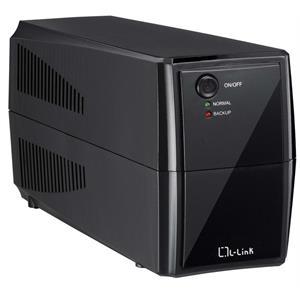 Imagen de L-Link LL-1550N 550VA 2AC outlet(s) Negro sistema de alimentación ininterrumpida (UPS)