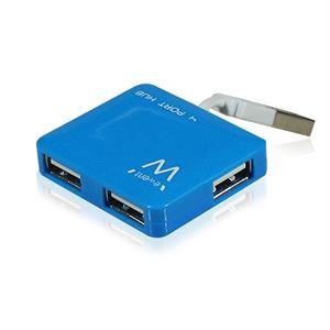 Imagen de Ewent EW1126 480Mbit/s Azul nodo concentrador