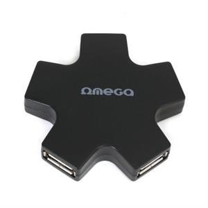 Imagen de OMEGA OUH24SB HUB 4 PU USB  2,0 ESTRELLA NEGRO