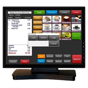 "Picture of VivaPos Monitor Táctil 15"" T1505A ALTA+DVI+USB NEG"