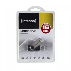 Imagen de Intenso 16GB Basic USB2.0 16GB USB 2.0 Capacity Negro, Plata unidad flash USB