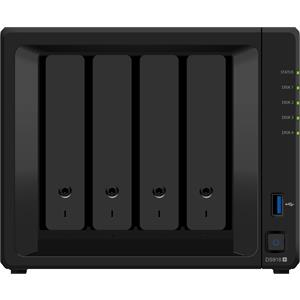 Imagen de SYNOLOGY DS918+ 4BAY 1.5 GHZ QC 2X GBE EXT 4GB DDR3L 2X USB 3.0 1X M.2 SLOT