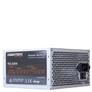 Imagen de Hiditec PSX 500W 500W ATX Aluminio unidad de fuente de alimentación