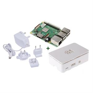 Picture of Raspberry kit Pi 3 B+ + caja blanca + fuente blanc