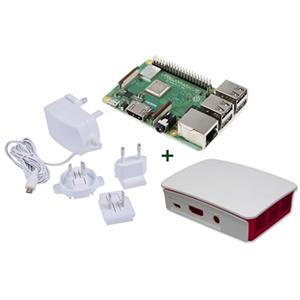 Picture of Raspberry kit Pi 3 B+ + caja bca/roja + fuente b