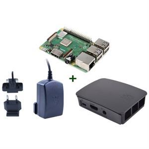 Picture of Raspberry kit Pi 3 B+ + caja negra + fuente negra