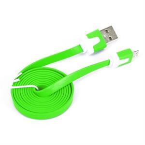 Imagen de OMEGA Cable plano microUSB-USB 2.0 tablet 1M Verde