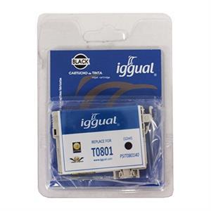 Picture of iggual Cartucho Reciclado Epson T0801 Negro