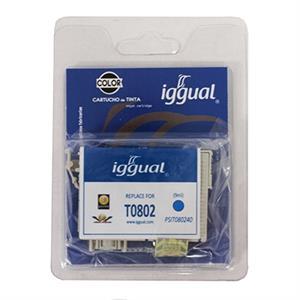 Picture of iggual Cartucho Reciclado Epson T0802 Cian