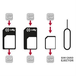 Imagen de Celly SIMKITAD SIM card adapter adaptador para tarjeta de memoria sim / flash