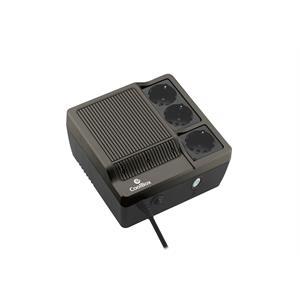 Imagen de CoolBox Sai Scudo 600 600VA 3AC outlet(s) Compacto Negro sistema de alimentación ininterrumpida (UPS)