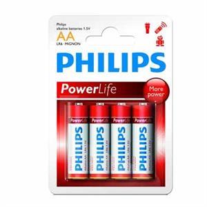 Imagen de Philips pila alcalina LR6 AA PACK-4